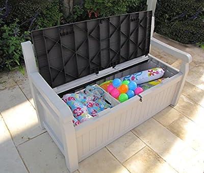 Keter Eden Garden Bench and Cushion Box, 265 l