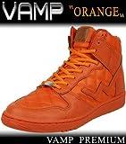 【VAMP】レザーキルティング ハイカットスニーカー/オレンジ (【23.0cm】)