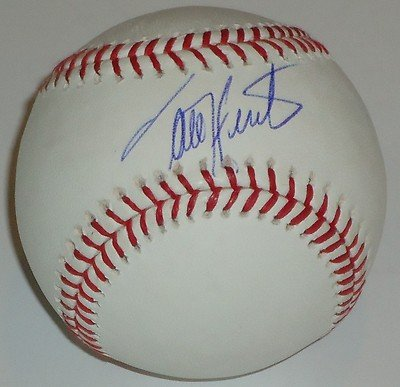 TORII HUNTER signed OML baseball *DETROIT TIGERS* W/COA 9X GOLD GLOVE WINNER! - Autographed MLB Gloves