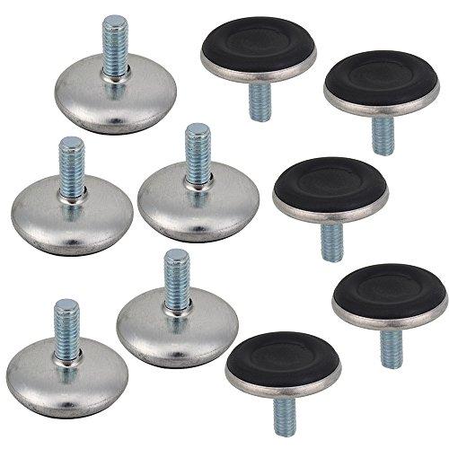 bqlzr adjustable furniture leg table leveling feet pad black base m6 x 28 6mm bumpers thread. Black Bedroom Furniture Sets. Home Design Ideas