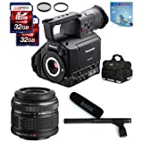 Panasonic AG-AF100A + 14-42mm Lens + Rode NTG1 + Case + Filters + Two 32GB SDHC (10) Deluxe Kit