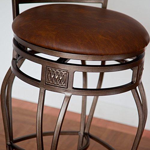 Hillsdale Montello 32 Inch Swivel Bar Stool Old Steel