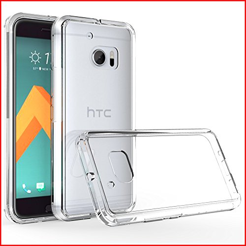HTC 10 Case,Anna Shop [PRISM Series] Crystal Clear[Scratch Resistant][Corner Protection]Shock-Absorbing TPU Bumper and Ultra Slim Clear Back Hard Panel Case for HTC 10