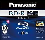 Panasonic ブルーレイディスク 録画用4倍速 25GB(単層 追記型) 10枚パック LM-BR25LH10N