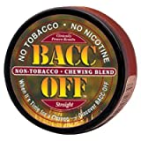 Bacc Off - Non-Tobacco Nicotine Free Herbal Snuff - Straight (5 Cans)