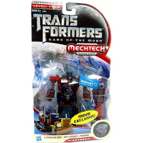 Transformers 3 Dark of the Moon Movie Exclusive Deluxe Action Figure Lunarfire Optimus Prime by Hasbro (English Manual)