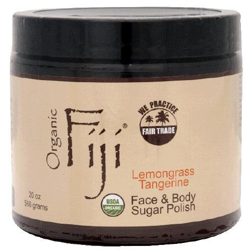 Organic Fiji Lemongrass Tangerine Sugar Polish 20 Oz