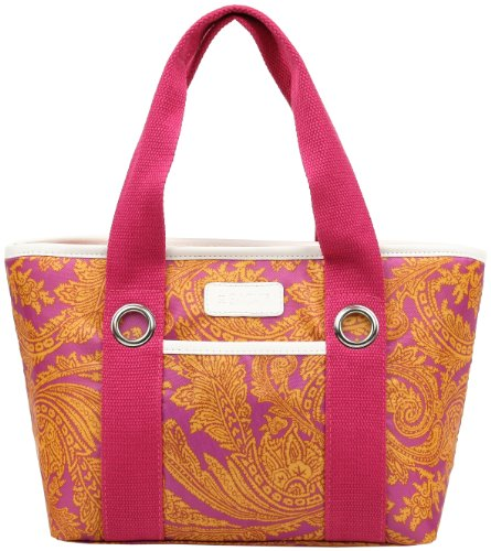 Sachi 11-159 Insulated Fashion Lunch Tote, Pink Paisley - 1