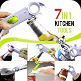 7 In 1 One Touch Kitchen Can Opener Bottle Jar Knife Slicker