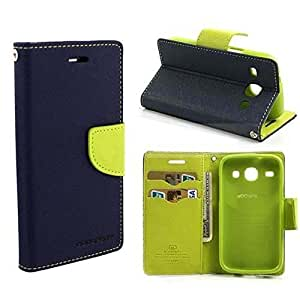 Efinetrick Luxury Mercury Diary Wallet Style Flip Cover Case for HTC DESIRE 620 / 620 G (BLUE&GREEN)