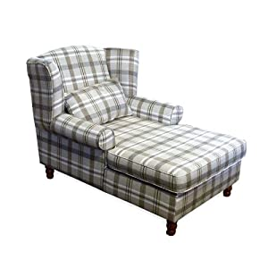 chaise longue chair lounge furniture neyland tartan