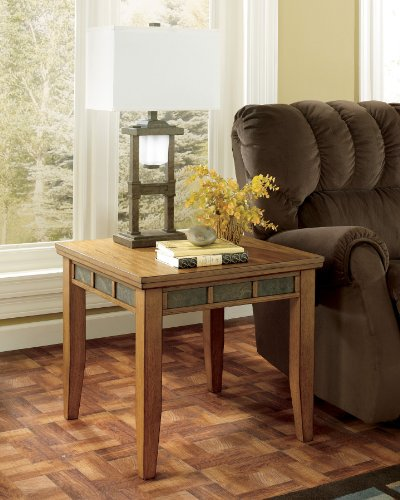"Cheap LightBrown Square End Table by ""Famous Brand"" Furniture (T674-2)"