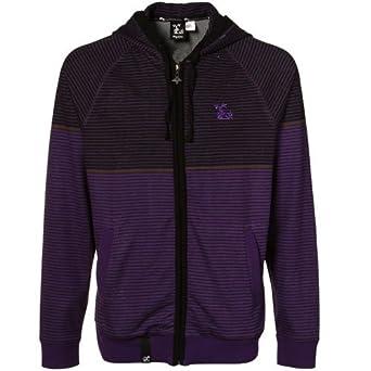 LRG Sled Dog Purple-Black Full Zip Hoodie Jacket (XX-Large)