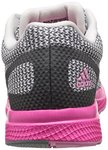 Adidas Performance Women's Mana Bounce Running Shoe,Vista Grey/White/Shock Pink,8 M US