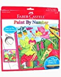 Faber-Castell Paint By Number Fairy Garden With Watercolor Eco Pencils