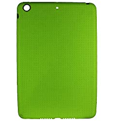 Heartly New Retro Dotted Design Hole Soft TPU Matte Bumper Back Case Cover For Apple iPad Mini 3 3rd Generation Tablet - Nature Green