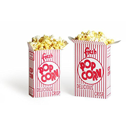 Great Northern Popcorn 100 Premium Quality Movie Theater Style Popcorn Boxes 38 Ounce (Oz) Box (Theater Style Popcorn Bags compare prices)