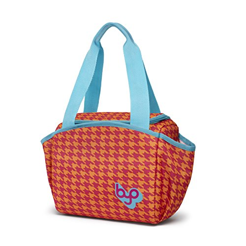 BYO Nosh Lunch Bag, Houndstooth Pink