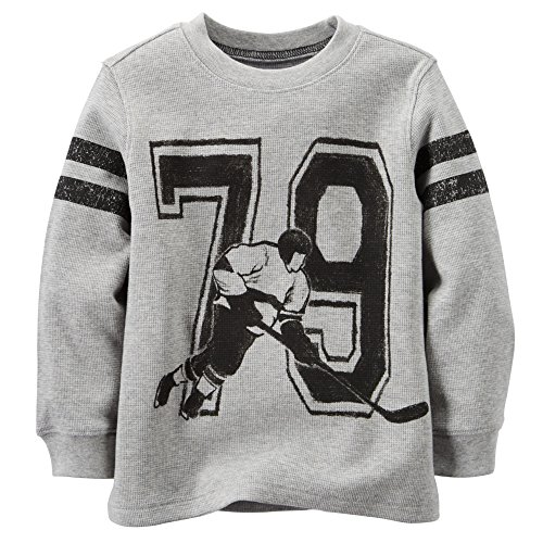 Carter's Little Boys Hockey Thermal Top Tee (3T, Grey)