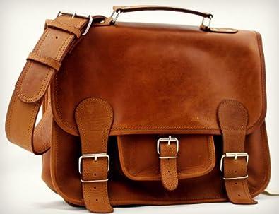LE CARTABLE (M) cuir couleur naturel sac bandoulière format (A4) PAUL MARIUS