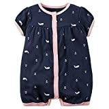 Carter's Baby Girls 1-piece Print Snap-Up Romper (3 Months, Navy Whale) Size: 3 Months Color: Navy Whale, Model: , Newborn & Baby Supply