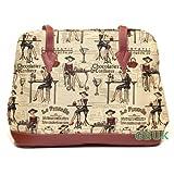 * SALE! * Tapestry Ladies Day Handbag / over shoulder bag (cafe) - Gobelin Styleby Green Bear QHS