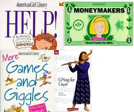American Girl Library 4 Book Set (Help: An Absolutely Indispensable Guide to Life for Girls, Money Makers, More Games and Giggles, and Going for Great)