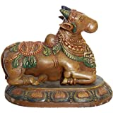 Nandi - The Vehicle Of Lord Shiva - South Indian Temple Wood Carving