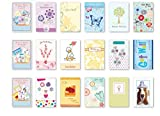 B-THERE Value Pack Assorted Get Well, Feel Better Soon Bulk Greeting Cards Box Set, Assortment & 15 Designs, 30 Piece