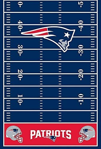 DesignWare New England Patriots Plastic Table Cover, 54 by 102""