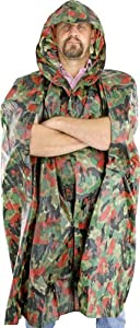 Misc Camo Wet Weather Poncho by MISCELLANEOUS