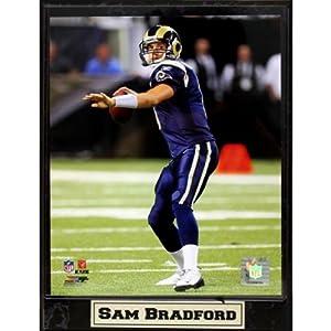St Louis - Rams - Sam Bradford 9X12 Plaque (14 Pieces)