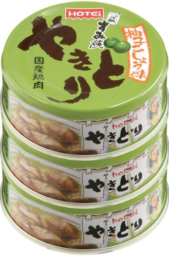 ホテイ やきとり柚子こしょう味 3缶シュリンク 70g×3個