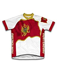 Montenegro Flag Short Sleeve Cycling Jersey for Women