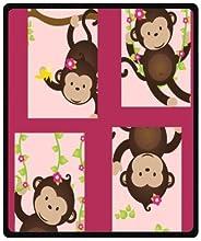Monkey Town Throw Blanket 50quot x 60quot Medium