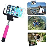 Toch TM Universal Wireless Bluetooth Extendable Self Portrait Monopod Adjustable iPhone Stick Pole with Remote Button Shutter for iphone6 iphone 6 plus iphone 4/5/5s Samsung S3/S4 Note 2/3/4 pink