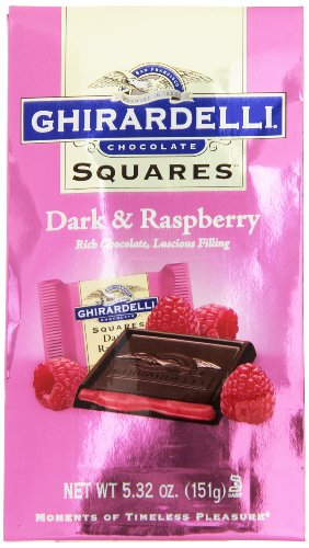 Ghirardelli Dark and Raspberry Squares Stand Up Bag, 5.32 Ounce (Ghirardelli Bar compare prices)