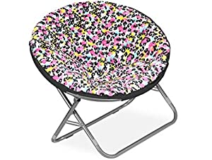 Amazon Plush Padded Folding Moon Saucer Chair for