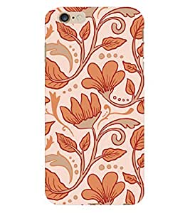 ColourCrust Apple iPhone 6 Plus Mobile Phone Back Cover With Floral Pattern Style - Durable Matte Finish Hard Plastic Slim Case
