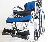 自走式車椅子 チャップスDB オーシャンブルー ノーパンクタイヤ 折りたたみ
