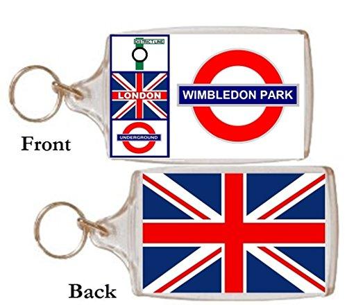 Schlüsselring Wimbledon Park Geschenk Tourist Souvenir Mit Englisch Wörter