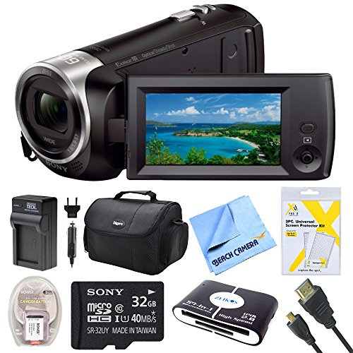 sony-hdrcx405-hdr-cx405-cx405-video-recording-handycam-camcorder-bundle-with-deluxe-bag-32gb-mico-sd