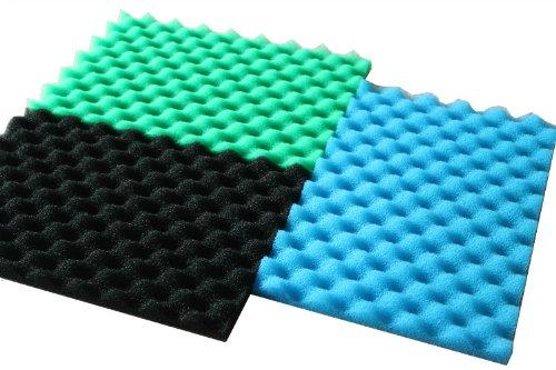 Ltwhome fish pond foam filter sponge set 17 x 11 media for Foam on fish pond