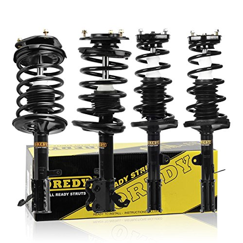 Full Set 4pcs Complete Quick Strut Shock Assembly with Coil Springs Mount 271952 271951 171954 171953 for 1993-2002 Toyota 1998-2002 Chevrolet Prizm (Coil Shock Toyota Corolla 2000 compare prices)