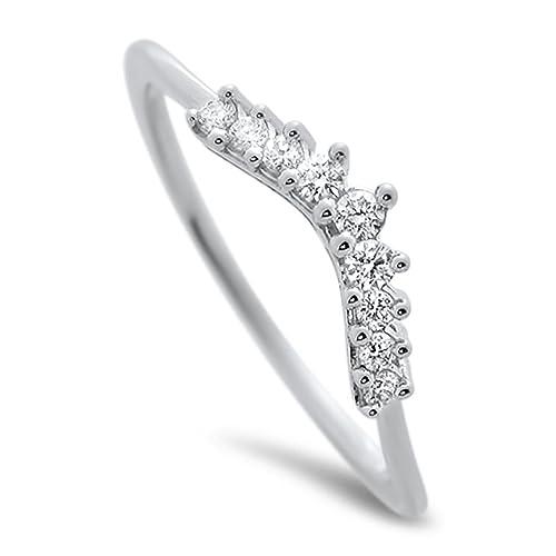 F/VVS 0.15ct ROUND DIAMONDS HALF ETERNITY WEDDING RING IN 18K SOLID WHITE GOLD