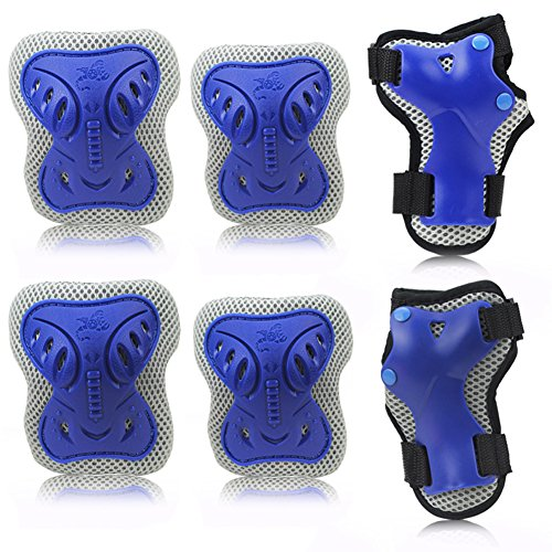 KingBig-Kids-Protective-Gear-Set-Pack-of-6-Butterfly-Shaped-Kneepad-with-Elbow-Pads-and-Palms-Guards-for-Cycling-Riding-Skateboarding-Football-Volleyball-Basketball