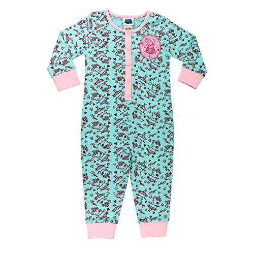 Character Girls Peppa Pig Sleepsuit Size 5