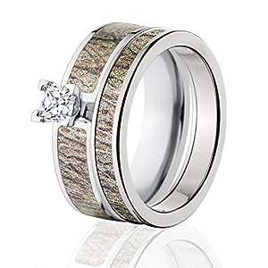Amazon Mossy Oak Camo Bridal Set Camo Wedding Rings Brush Camo Rings Jewelry