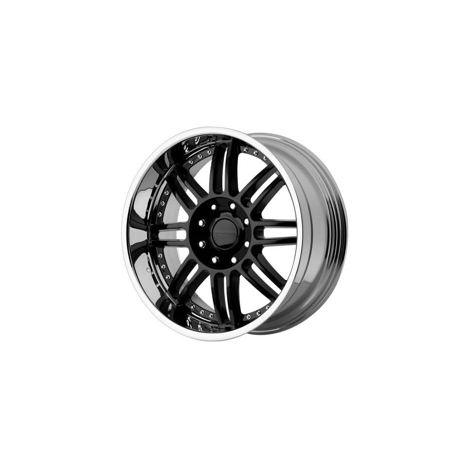 KMC Wheels Backseat KM125 Gloss Black Wheel with Machined Lip (20x9/8x165.1mm)