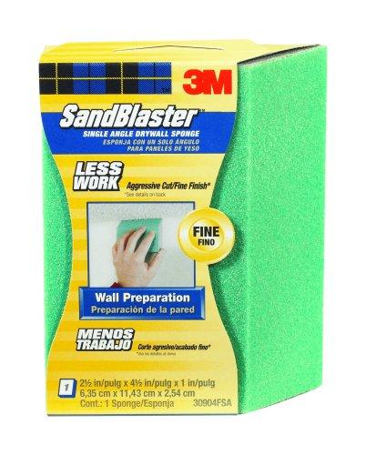 3M SandBlaster Large Drywall Sanding Sponge, Fine Grit